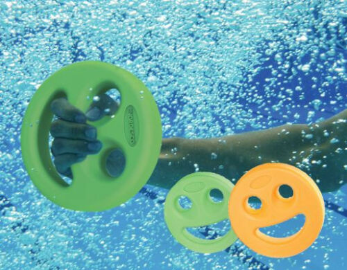 AQUA DISC Smile FOAM POOL dumbbell LIGHT Arthritis Hand Buoy Rehab Hydrotherapy