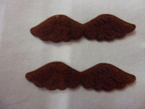 dunkelbraun B 5 x 1cm aus Samt RAR: 10 Engelflügelchen für Miniaturbären