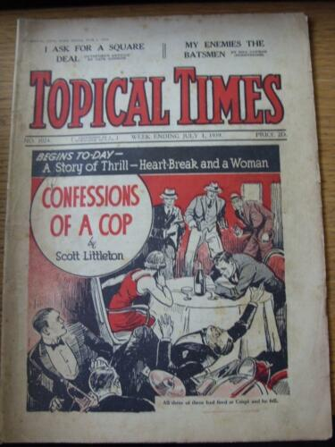 01071939 Topical Times Magazine No.1024 Inside My EnemiesThe Batsmen By Bi