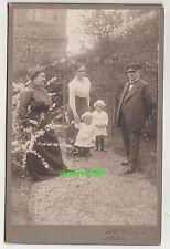 Kabinettfoto Personen Garten Mügeln um 1910 ! (F1922