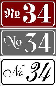 Numeri Civici In Plastica.10 O 25 Numero Civico Plastica 3 Mm 190 X 95 Mm Richiesta Numero