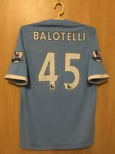 wholesale dealer 02280 a80d1 Details about MANCHESTER CITY 2010/2011 HOME FOOTBALL SHIRT JERSEY MARIO  BALOTELLI #45