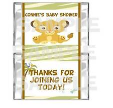 Personalized LITTLE SIMBA LION KING Baby Shower mini candy bar wrappers favors