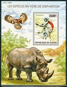GUINEA-2015-ENDANGERED-SPECIES-SOUVENIR-SHEET-MINT-NEVER-HINGED