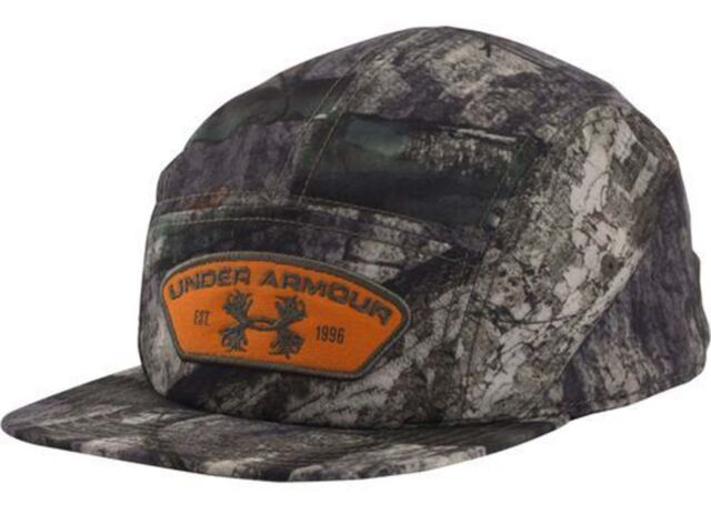 Under Armour Men s Mossy Oak Camo Antler Logo Patch Adjustable Cap Sz OS 46bebe3b74c