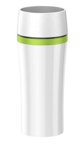 Emsa Travel Mug FUN Isolierbecher 0.36 L Weiß Grün Isolier Becher 514176