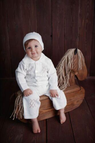 HOBEA-Germany Taufanzug Festanzug gestrickter 3 Teiler Noah