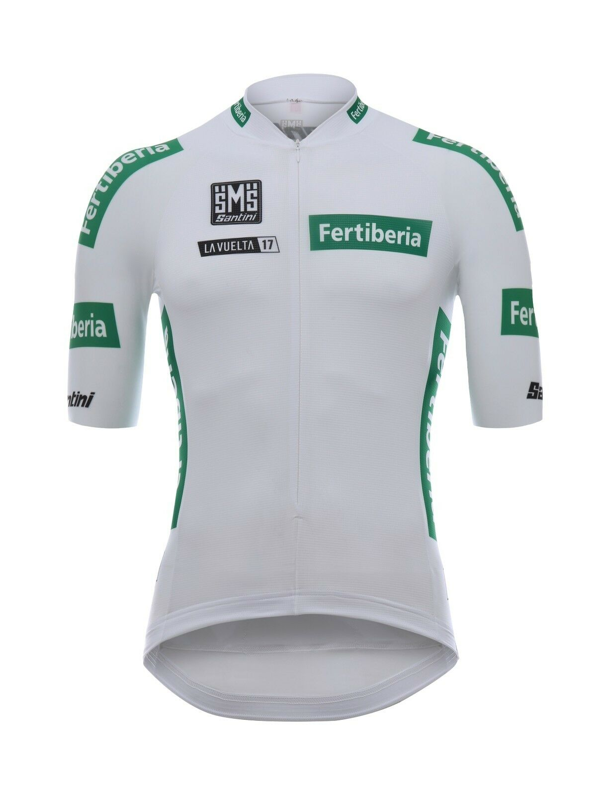 2017 La Vuelta Weiß Leaders Radfahren Jersey  Made in  by Santini