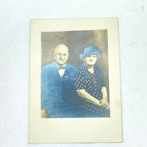 Vintage Antique PHOTO GRANDMA & GRANDPA Hamilton Portrait B&W Black & White