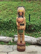 John Gallagher Carved Wooden Cigar Store Indian 5 ft. in stock ready to ship !