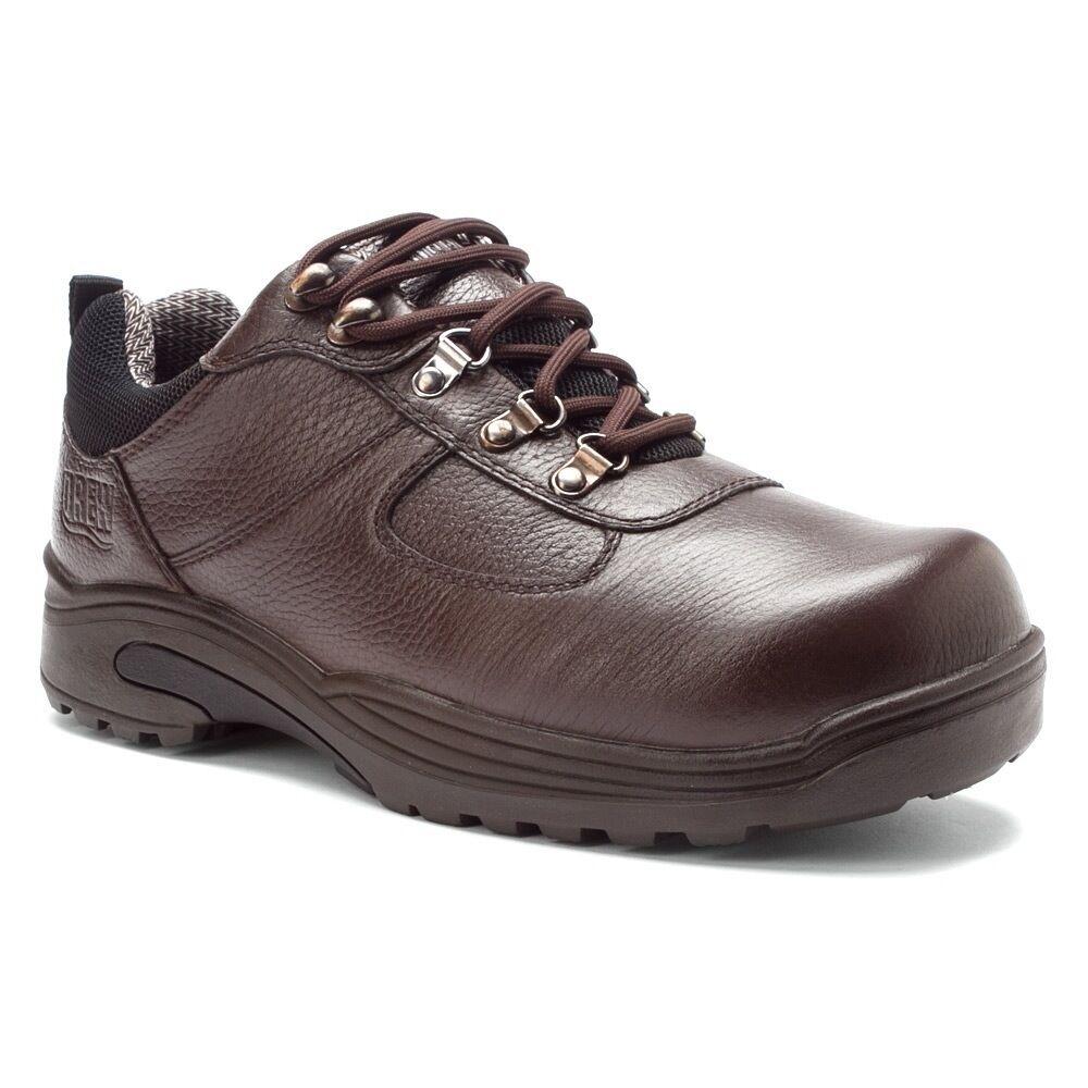 NEW Drew Men's Therapeutic Orthapedic Boulder Low-Cut Hiking Boot - Dark Brown