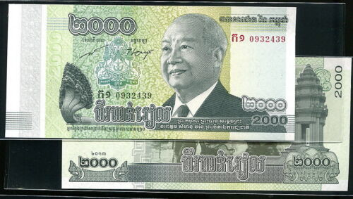 CAMBODIA new 2000-REIL P-NEW 2013 UNC