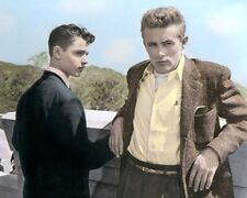 "JAMES DEAN & SAL MINEO REBEL WITHOUT A CAUSE 1955 8x10"" HAND COLOR TINTED PHOTO"