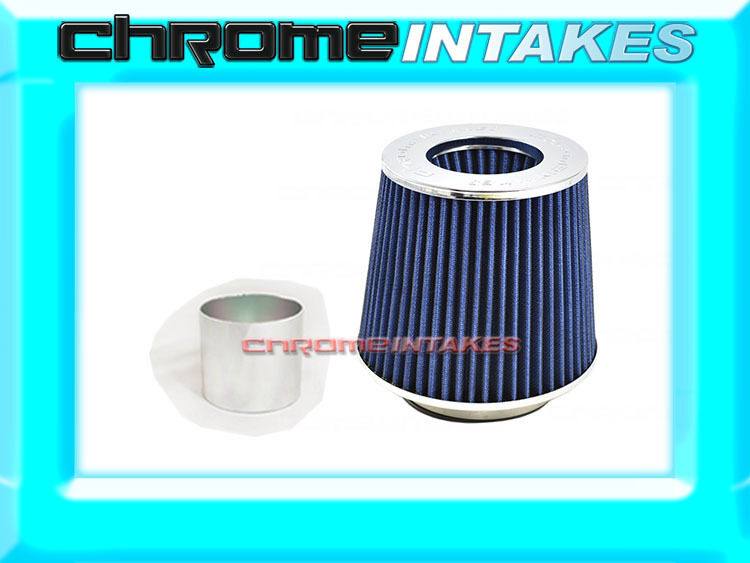 blueE UNIVERSAL 2.75  70mm DRY AIR FILTER FOR LEXUS TOYOTA AIR INTAKE+PIPE