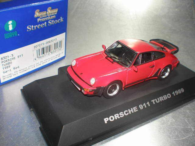 143 iwaya  83013 PORSCHE 911 Turbo 1989 GARZ rosso SPEDIZIONE GRATUITA