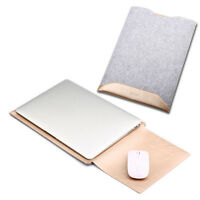 PU Leather Laptop Sleeve Bag Case Cover for MacBook, Air 11 12 Pro 13 15 Retina