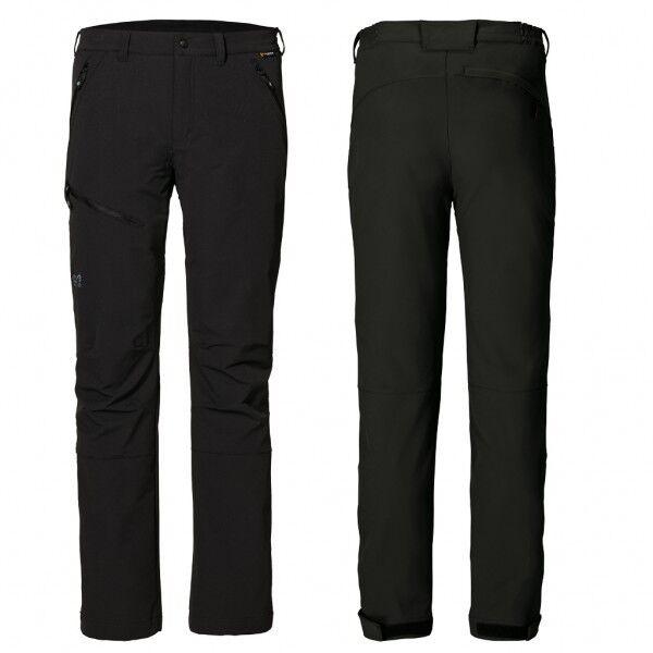 Jack Wolfskin Stretch elastano señores Softshell pantalones Activate negro tamaño corto