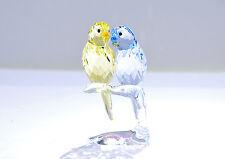 Swarovski Budgies Yellow Purple Love Bird Wedding Gift 5004725 Brand New In Box