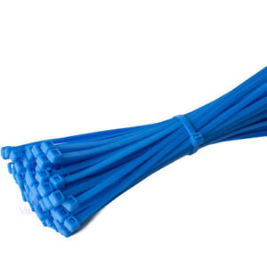 Blue Plastic Nylon Cable Ties Long Wide Extra Large Zip Tie Wrap Colours