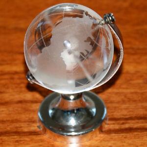 Das Bild Wird Geladen Klar Globus Glaskugel Erde Kristall Erdkugel Tischplatte Stand