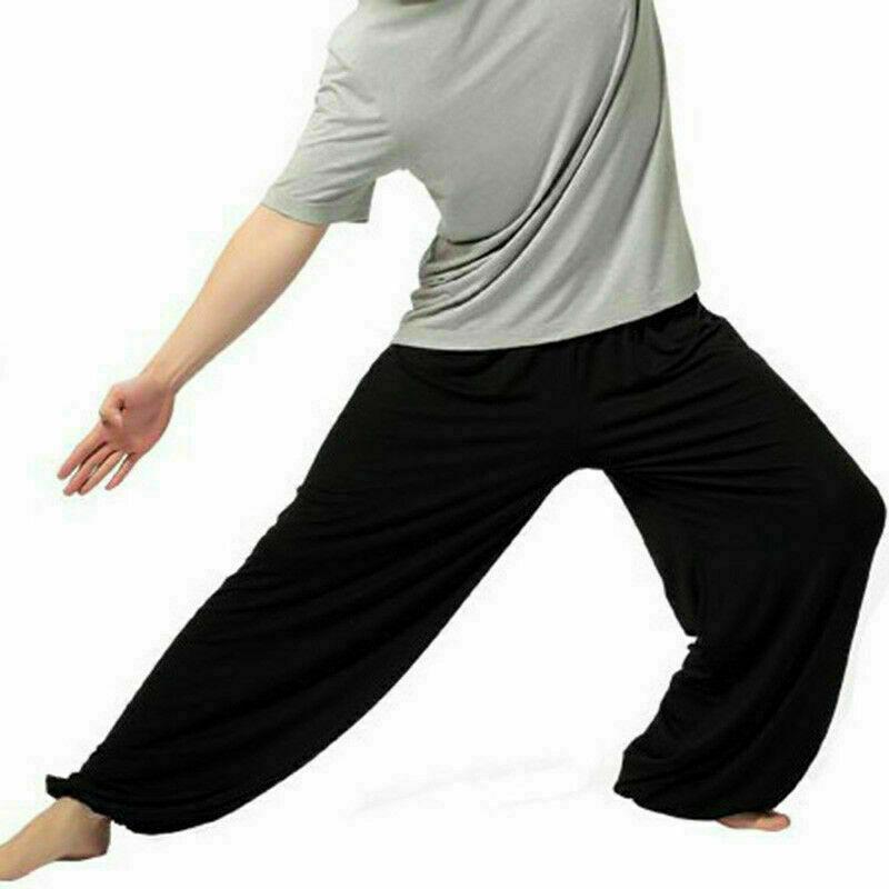 Herren Harem Yoga Baggy Jogginghose Ali Baba Lockere Hose Bottons Hosen
