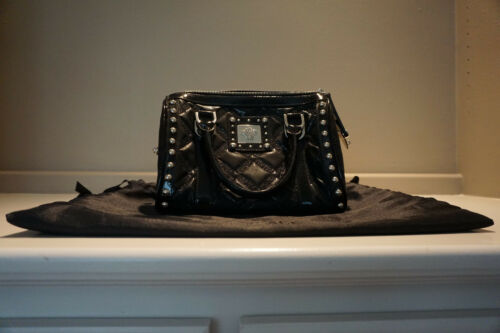 87e038826cb 7 of 11 RARE Versace Gianni Handbag Black Patent Leather Studded Great  Condition