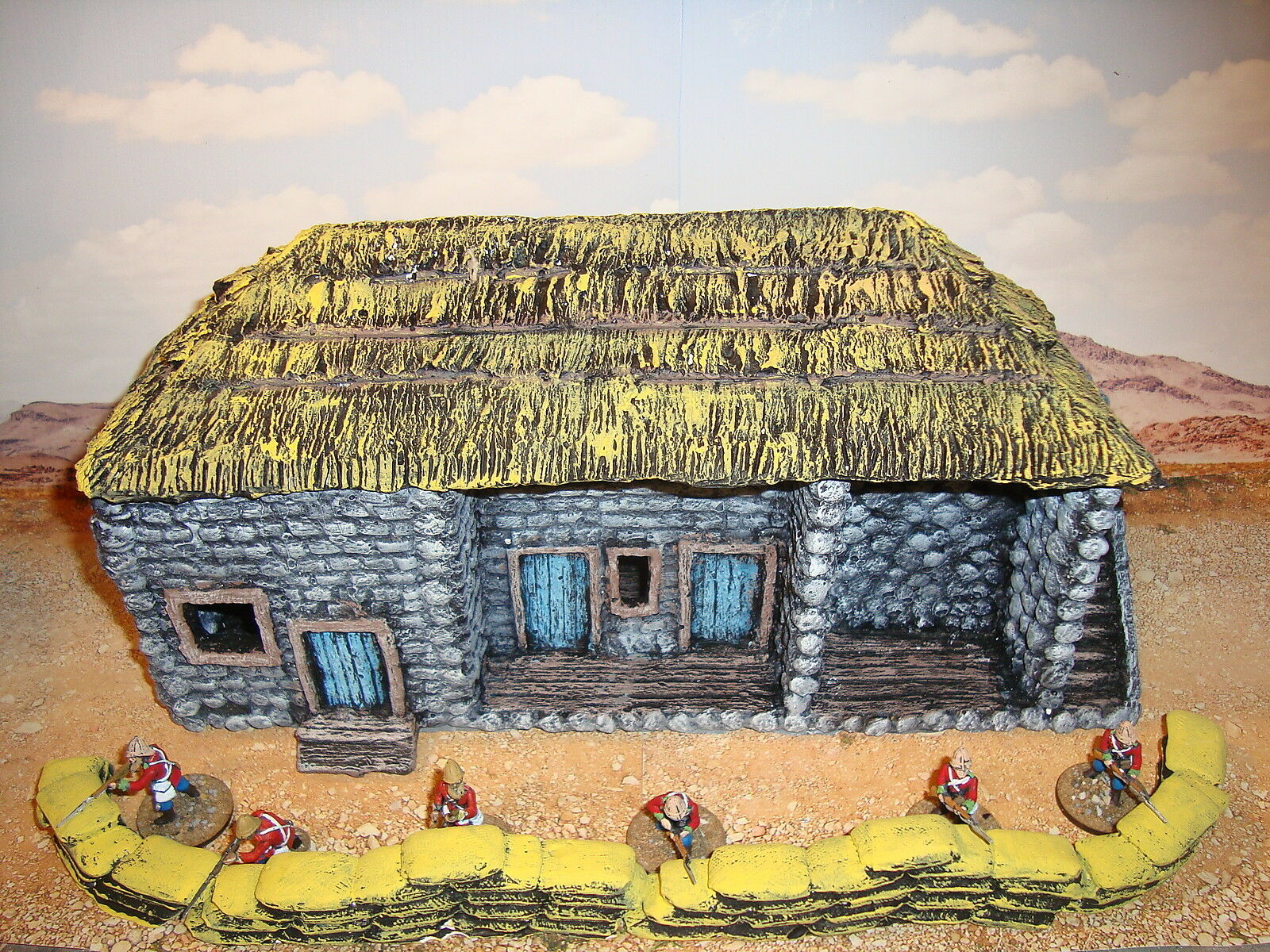 A1 Rourkes drift house 28mm for wargames scenery and terrain Buildings. Zulu war