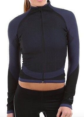 NIKE ZONED SCULPT TRAINING JACKET WOMEN'S Size S 803083-010 $130.00 NAVY BLACK