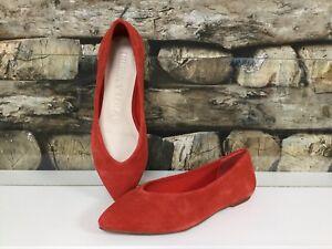 on sale 32dd6 0d65e Details zu BIMBA Y LOLA Damen Schuhe Ballerina Ballerinas Halbschuhe Coral  Spitz Leder NEU
