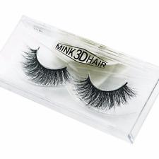 100% Real Mink Hair Natural Makeup Handmade Thick Long False Fake Eyelashes