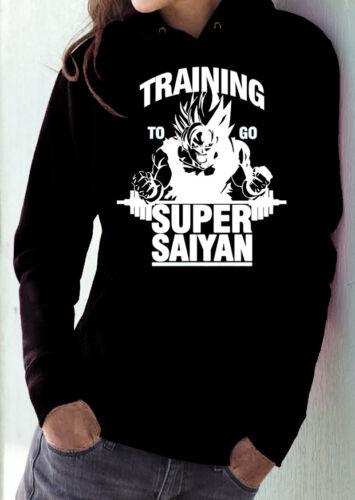fm10 felpa cappuccio donna SUPER SAIYAN Dragon Ball training to go sport CARTOON