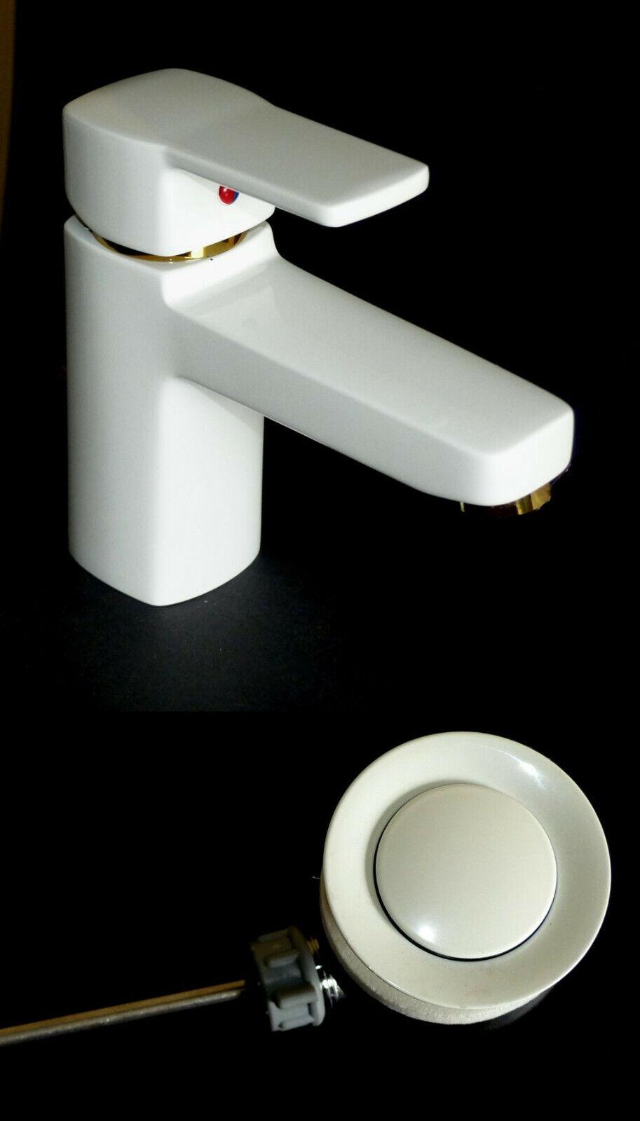 Kludi Grifería Lavabo Lavabo Grifería de Baño Q-Beo blancoo   oro