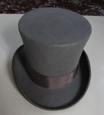 18cm 100/% Wool Victorian Mad Hatter Top Hat Vivi Magic Performing Caps Crown