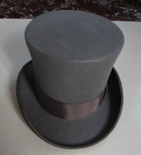 18cm//7/'/' 100/% Wool Victorian Mad Hatter Top Hat Vivi Magic Performing Caps Crown