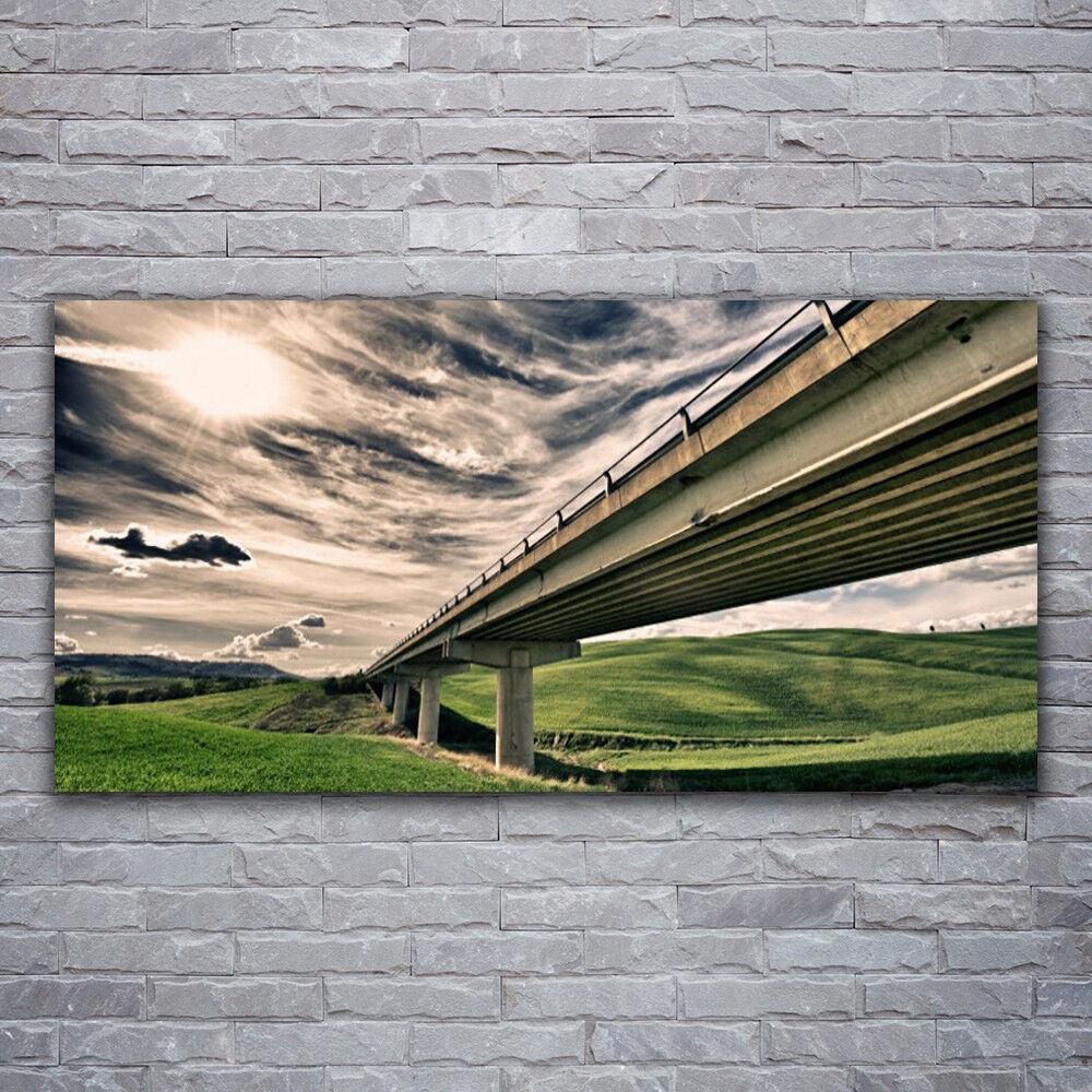 Nouvelle génération, nouveau choix Tableau sur Autoroute verre Image Impression 120x60 Architecture Autoroute sur Pont Vallée 234769