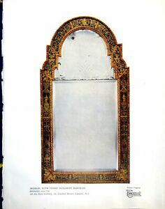 Old-Vintage-Print-Mirror-With-Verre-Eglomise-Borders-English-C-1700-1928