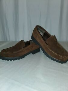 LL-Bean-Ladies-Suede-Loafers-size-7m