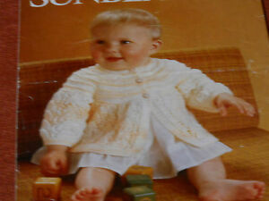 Baby-039-s-Matinee-Coat-size-16-and-18-knitting-pattern