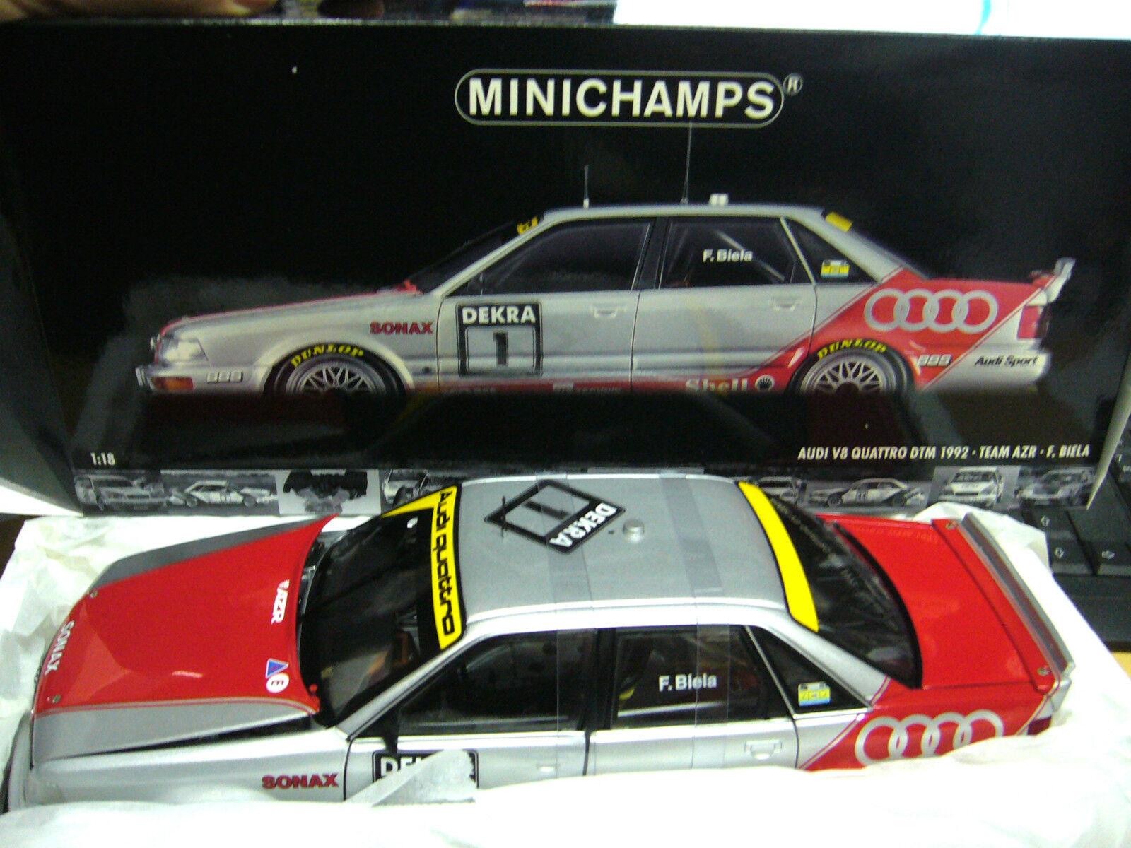 el precio más bajo Audi v8 Quattro evo DTM biela biela biela 1992  1 azr Minichamps pma rare 1 18  protección post-venta