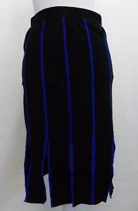 Grace-Elements-Womens-Skirt-Thick-Fringe-Hem-Sweater-Pencil-Skirt-Black-Blue-S