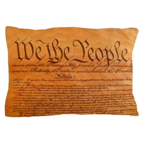 """CafePress US Constitution Standard Size Pillow Case 1379987628 20/""""x30/"""""""