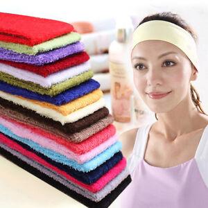 So Cheap Cotton Terry Cloth Flexible Headband Sweatband Wristband Yoga 13 Colors
