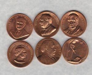 6 Différents Bronze USA Président médailles en Near Comme neuf condition