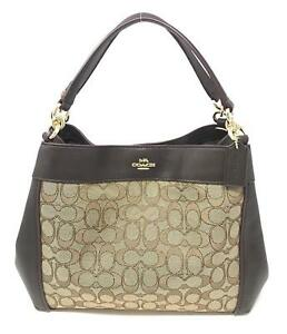 fc2b33ee2455 Coach F29548 Small Lexy Signature Jacquard Shoulder Bag Handbag for ...