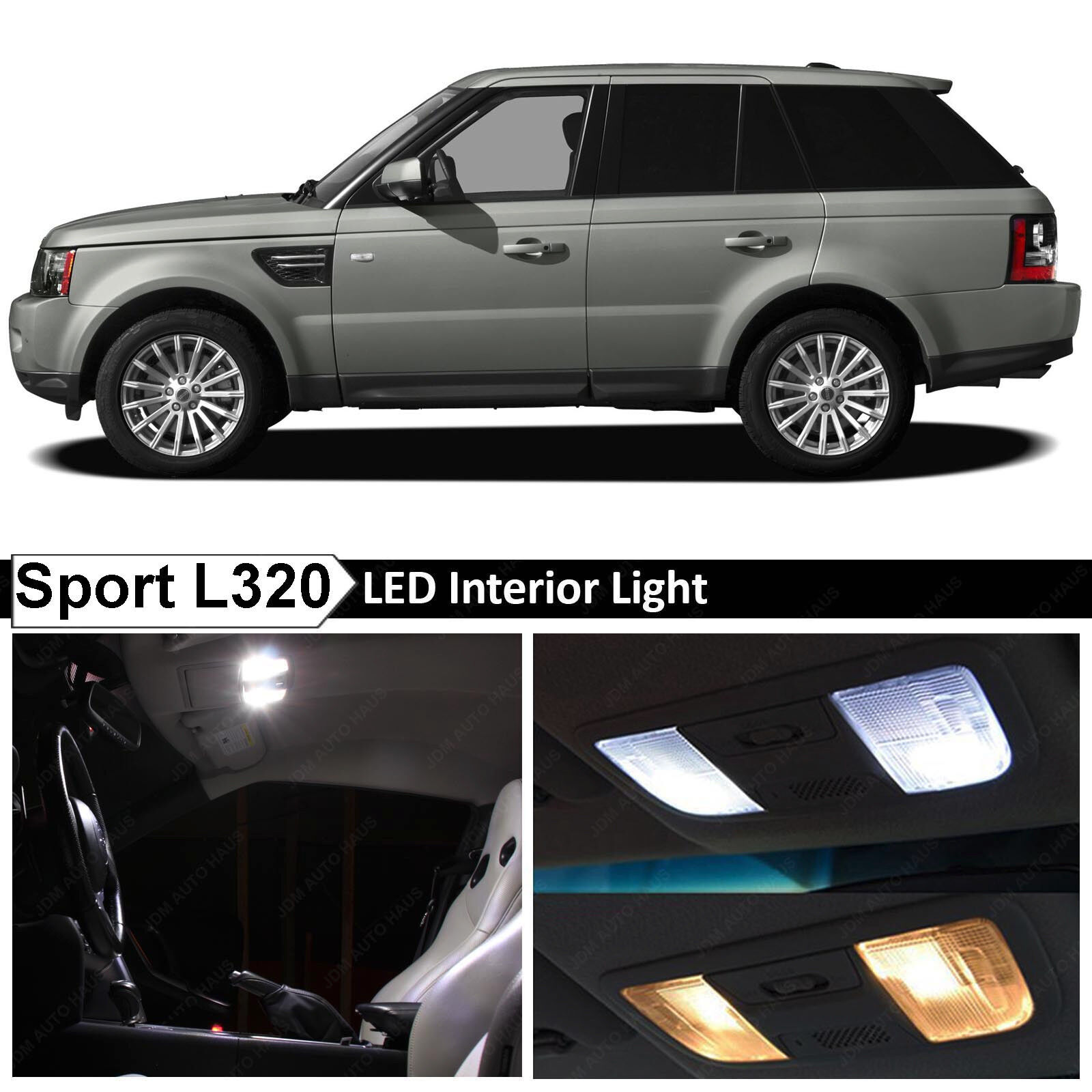 Range Rover Sport 2005 2013: 18x White LED Lights Interior Package For 2005-2013 Range