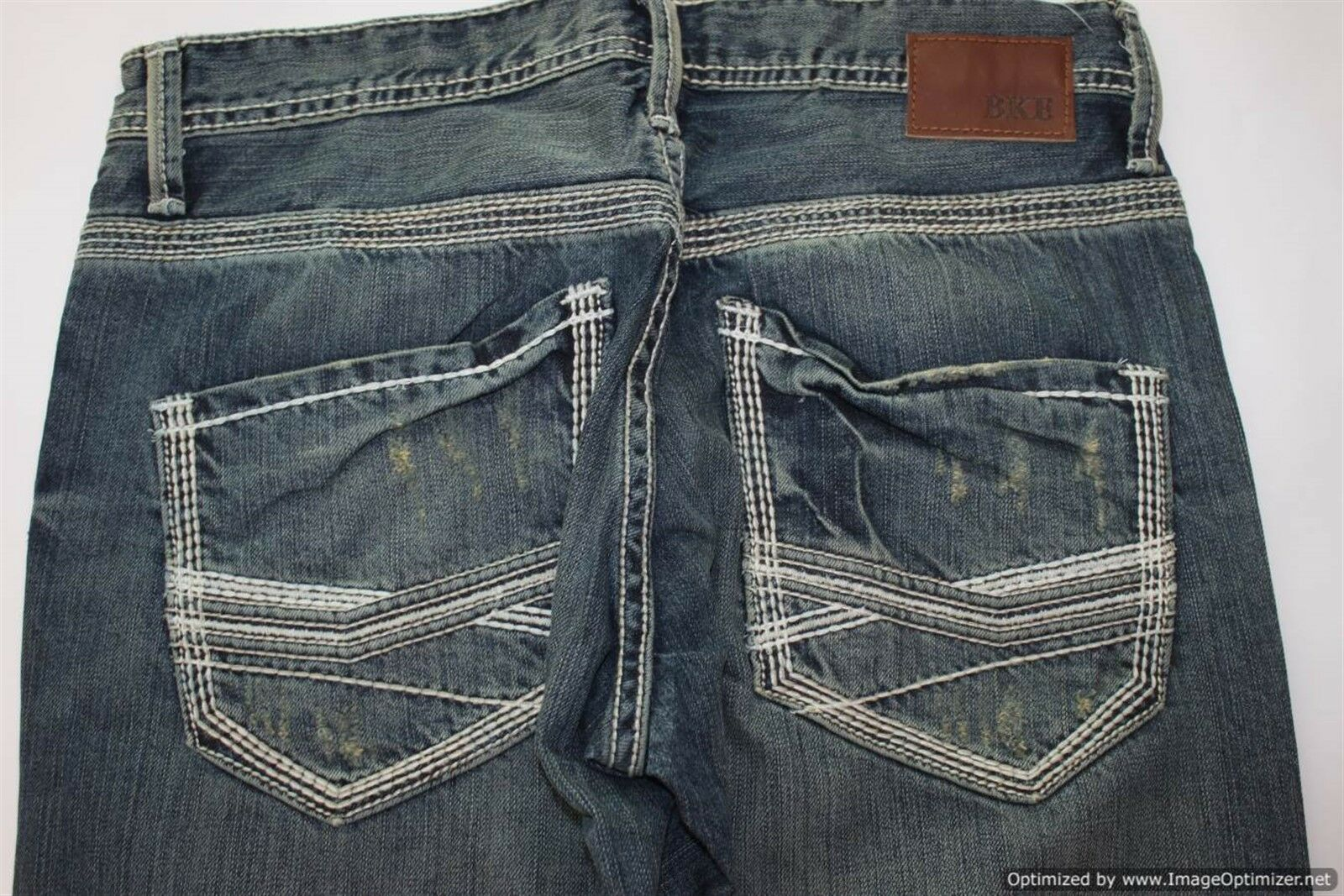 BKE JEANS Carter Semi Destroyed Bootcut All Cotton Denim Men's Size 32 x 33 .5