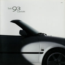 Saab 93 Cabriolet Prospekt 2003 brochure Autoprospekt Auto PKW broschyr brosjyre