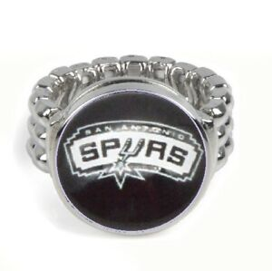 San-Antonio-Spurs-Basketball-Silver-Mens-Womens-Ring-Fits-All-Sizes-w-Gift-Pk-D2