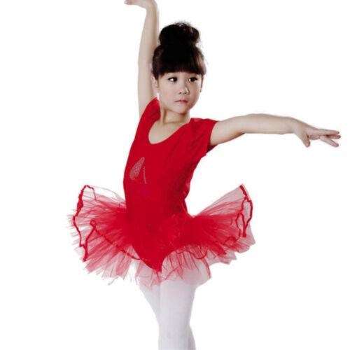 Toddler Girls Gauze Leotards Ballet Bodysuit Dancewear Dress Clothes Outfits L0