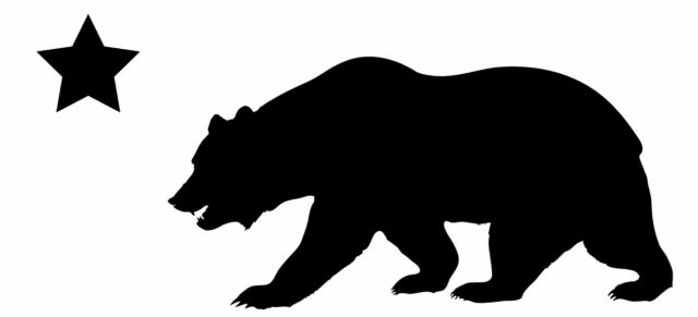 this is a california bear silhouette sticker or decal california map outline vector california map victorville ca
